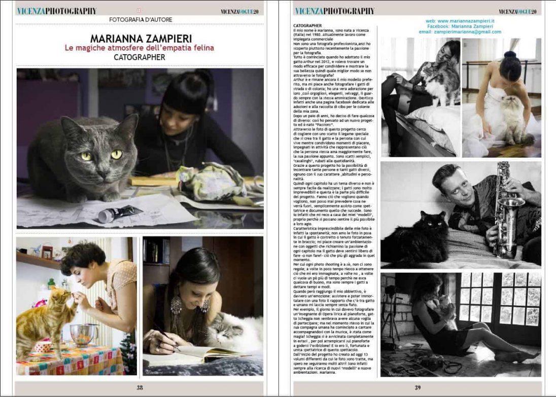 news - Articolo sul magazine VicenzaVogue Photography Febbraio 2017